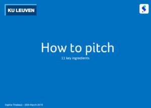 Pitch workshop KU Leuven